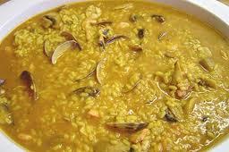 arroz con gambas almejas y champiñones