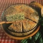 Tarta verde de arroz con espinacas