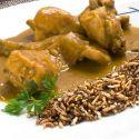 Receta de Conejo al curry con arroz frito